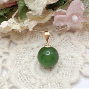 18K gold Jade Pendant